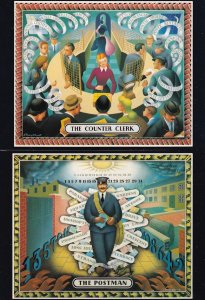 The Royal Mail Counter Clerk Worker Limited Edition 2x Postcard