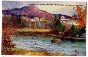 Robert Louis Stevenson's Home & Mt Baker, Saranac Lake NY