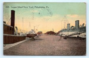 Postcard PA Philadelphia League Island Navy Yard 1914 View R73