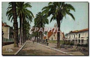 Hyeres Old Postcard Beauregard Avenue Anglican chapel