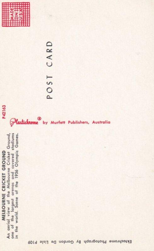 MELBOURNE , Victoria. , Australia , 1950-60s ; Crickett Ground