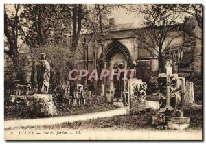 Old Postcard Paris Musee Cluny View From Garden