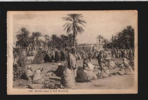076871 MOROCCO south market & sellers view Vintage PC