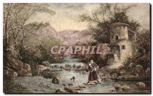 Old Postcard landscape