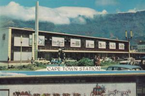 Cape Town New Mosaic Mural Railway Station Postcard