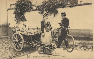 Belgium Laitière flamande Dog cart 03.74