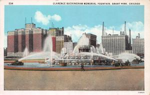 Clarence Buckingham Memorial Fountain, Chicago,Illinois, Early Postcard, Unused