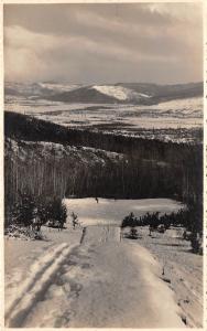 ski partie de schi   sport   romania real photo
