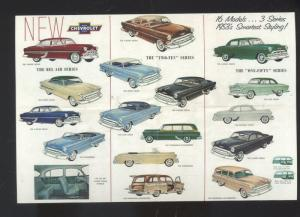 1953 CHEVROLET CAR DEALER ADVERTISING POSTCARD '53 CHEVY STATION WAGON