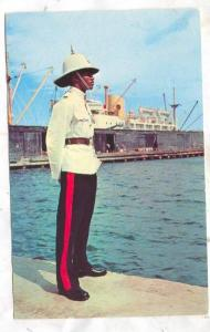Jamaican Constable in Dress Uniform on Waterfront Duty, Jamaica, PU-1974