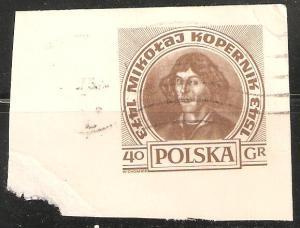Poland Postal Card Used Corner Mikotaj Hopernik