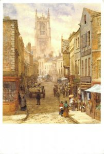 Art Postcard, Irongate, Derby (1865) by Louise Raynor GQ1