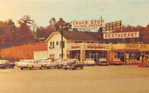 LP26 Rockwood Tennessee Postcard Peggy Ann Truck Stop HWY 27 & 70