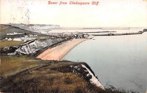 Scotland, UK Old Vintage Antique Post Card Dover from Skaespeare Cliff 1910