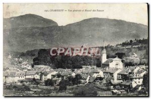 Old Postcard Chambery Vue Generale and Massif Bauzes