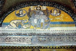 Turkey Istanbul ve Saheserleri, The Mosaic of Interior St Sophie Mosaique Christ