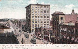 Alabama Birmingham Trolleys On 20th Street Looking North 1907 sk150