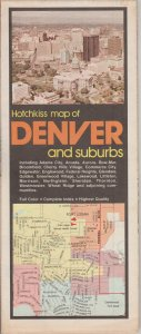 Vintage Denver and Surrounding Areas Map by Hotchkiss