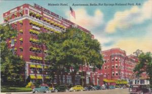 Arkansas Hot Springs Majestic Hotel Apartments and Baths 1949