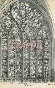 Postcard Old Dol La Cathedrale Grand Stained Choir (XVIth Century)