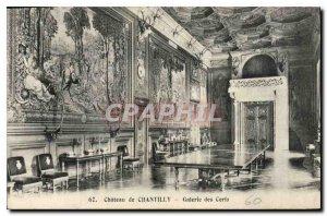 Old Postcard Chateau de Chantilly Gallery Deer