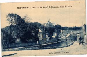 CPA MONTARGIS-Le Canal le Chateau École St-Louis (265997)
