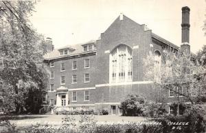 Grinnell Iowa College~Woman's Quadrangle & Dining Room~1940s RPPC-Postcard