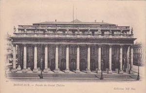 France Bordeaux Facade du Grand Theatre