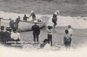 ASBURY PARK , New Jersey , 00-10s ; Landing from the fishing Schooner