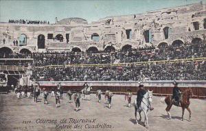 Ceremonial entrance to arena, Horse-back riders, Courses de Taureaux, Entree ...