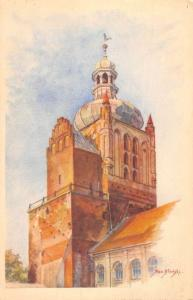Plock Poland Cathedral Belfry Antique Postcard K106503