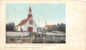 br106168 jesuit mission chapel tadousac saguenay river canada