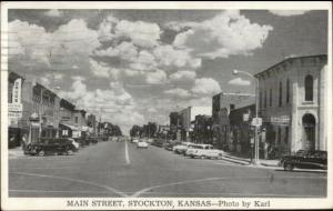 Stockton KS Main Street Postcard