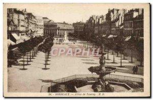 Old Postcard Bordeaux Allees De Tourny