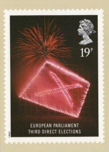Royal Mail Postcard - Stamp Design - European Parliament Third Elections RR8836