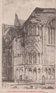 The Norman Tower Christchurch Priory Antique Postcard