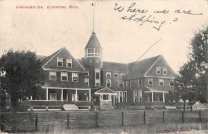 Gladstone Michigan Hawarden Inn Exterior View Antique Postcard J47733