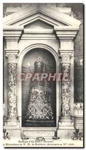 Old Postcard Basilica of & # 39Albert Miraculous Our Lady of Brebieres