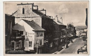Cumbria; Looking North Up Highgate, Kendal T29 RP PPC, c 1940's, Unposted