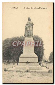 Postcard Chimay Old statue of Jean Froissart