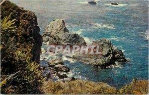 Modern Postcard The Pacific Coastline in Big Sur California on Highway I