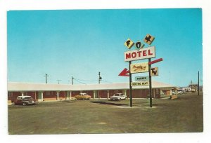 Postcard AR Fox Motel Bald Knob Ark. Arkansas Old Cars