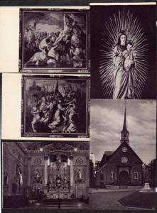 PB Lot 5 Notre Dame des Victoires Quebec Church Religious Postcard Carte Postale