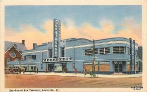 1930s Deco Architecture Greyhound Bus Terminal Louisville Kentucky Teich 4708