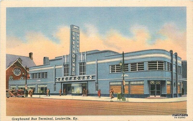1930s Deco Architecture Greyhound Bus Terminal Louisville Kentucky Teich 4708
