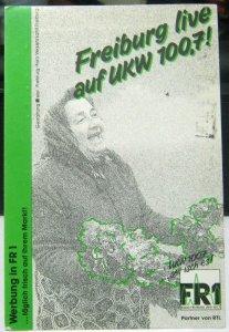 Germany Advertising Freiburg Live Radio 100.7 UKW - posted 1990