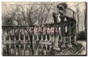 Old Postcard Paris Parc Monceau Columns