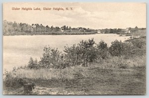 Ulster Heights New York~Buildings on Shore Ulster Heights Lake~1909 B&W Postcard