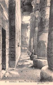 Thebes Egypt, Egypte, Africa Medient Habu the Colonades in the firt court The...