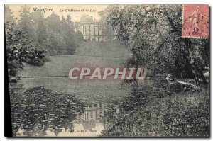 Old Postcard Montfort The Chateau and Lake
